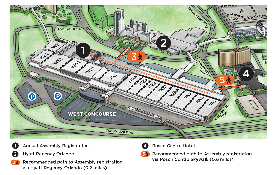 Orange County Convention Center Map