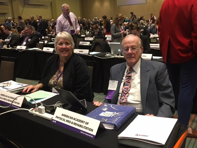 AAPM&R HOD Chair and Alternate Chair - Drs. Hubbell and Reinstein
